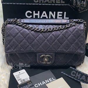 CHANEL Iridescent Medium Soft Caviar Flap Bag EUC